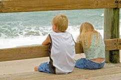 Vigilanza dell'oceano Fotografia Stock