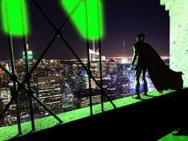 Vigilanza di notte del supereroe Immagini Stock Libere da Diritti