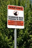 Vigilanza di vicinanza Fotografie Stock