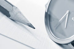 Vigilanza e matita Fotografia Stock Libera da Diritti