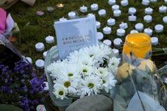 Vigile de Candllelit pour la député britannique assassinée, Jo Cox Photos stock