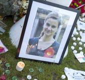 Vigile de Candllelit pour la député britannique assassinée, Jo Cox Photographie stock