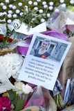 Vigile de Candllelit pour la député britannique assassinée, Jo Cox Photo libre de droits