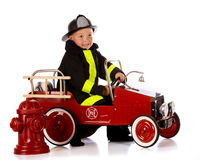 Vigile del fuoco prescolare Fotografia Stock Libera da Diritti
