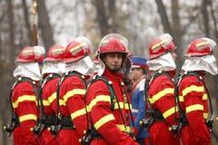 Vigili del fuoco alla parata immagini stock libere da diritti