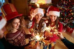 Vigilia di nuovo anno immagini stock libere da diritti