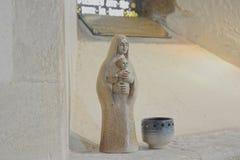 Vigin Mary και εικονικό άγαλμα του Ιησού μωρών στοκ εικόνες
