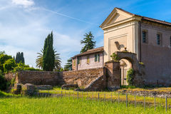 Vigna Barberini - ancient villa on the Palatine Hill in Rome Stock Images