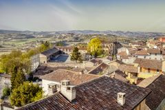Vignale Monferrato panorama. Color image royalty free stock photography