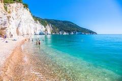 Vignanotica,普利亚,意大利, 2017年5月31日 Vignanotica海滩, i 免版税库存照片