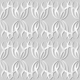 vigne de vague de croix de courbe de spirale d'art du livre blanc 3D Photo stock