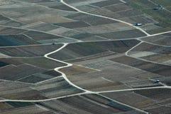 Vigne della rappezzatura nella valle del Rhone Immagini Stock Libere da Diritti