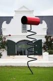 Vigne della regione del vino di Stellenbosch fuori di Cape Town del sud Immagine Stock Libera da Diritti