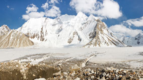 Vigne glaciär, Karakorum, Pakistan arkivfoto