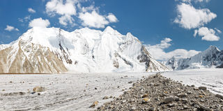 Vigne Glacier Panorama, Karakorum, Pakistan Royalty Free Stock Image