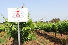 vigne Segno di prevenzione del pericolo Fotografia Stock