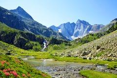 山Vignemale在国立公园比利牛斯 ?? 库存图片