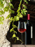 At the vigneron. A mixture of Photo and rendering showing a rural wine still life Stock Photo