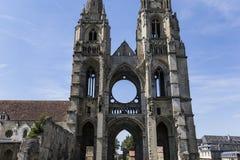 Vignes abadía, Soissons, Francia del DES de Jean del santo Foto de archivo