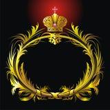 Vignet en kroon stock illustratie