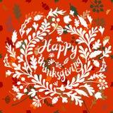 Vignet van de herfstbladeren Royalty-vrije Stock Afbeeldingen