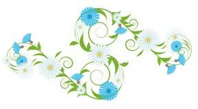 Vignet van korenbloemen en madeliefjes royalty-vrije illustratie
