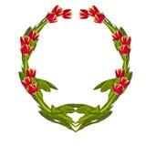 Vignet van tulpen Stock Foto