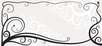 Vignette 03. A corner vignette - vine shape floral ornament vector illustration
