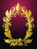 Vignette. Black background with vector gold floral vignette Stock Photo