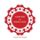 Vignette avec l'image de l'amour des chiens Photos stock
