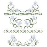 Vignette avec les iris bleus Photo libre de droits