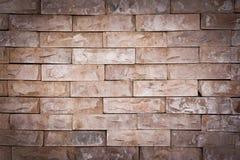 Vignette Background of Stone brick wall texture. Background of Stone brick wall texture Royalty Free Stock Photos