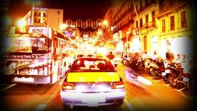 Vignette barcelona night drive stock video