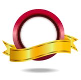 Vignette with a brilliant ribbon, background for a Royalty Free Stock Image