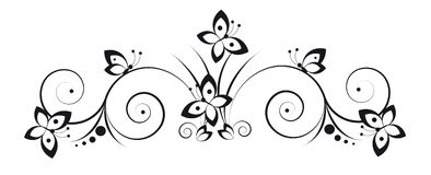 Vignette with butterflies royalty free illustration