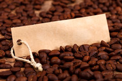 Vignette on coffee beans Stock Photos