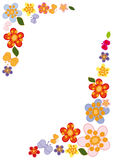 Vignette de fleur Photo stock