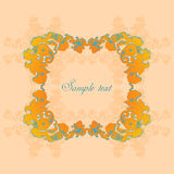 Vignette with floral ornament Royalty Free Stock Photos