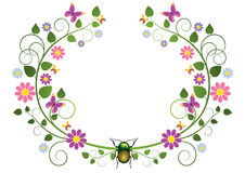 Vignette florale Photo stock