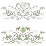 Vignette florale tirée par la main décorative de vintage de vecteur Photos libres de droits