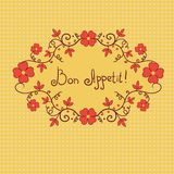 Vignette flower, bon appetite, vector background Stock Image