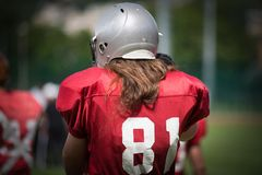 American football players in action Stock Images