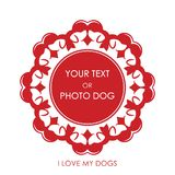 Vignette with the image of love of dogs royalty free illustration