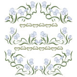 Vignette mit blauer Iris Lizenzfreie Stockbilder