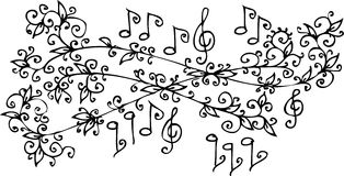 vignette musicale Photos stock