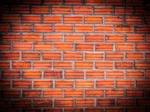 Vignette orange brick wall,background. A vignette orange brick wall,background Stock Image