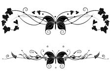 Vignette  set with butterfly Royalty Free Stock Images