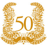 Vignette for the 50th anniversary. Vignette for the fifty's anniversary Royalty Free Stock Image