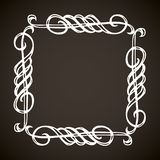 Vignette. Vector drawing royalty free stock photo