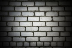 Vignette white brick wall Royalty Free Stock Photos